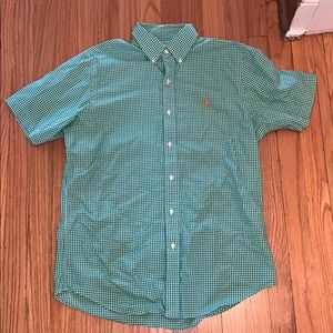 Ralph Lauren polo button down shirt short sleeve